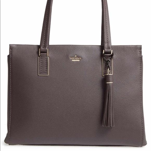 Kate Spade Dark Brown Large Leather Satchel